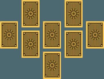 Rozkład tarota w podkowę